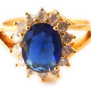 Jewelry - 18kt Gold Filled Sapphire Ring